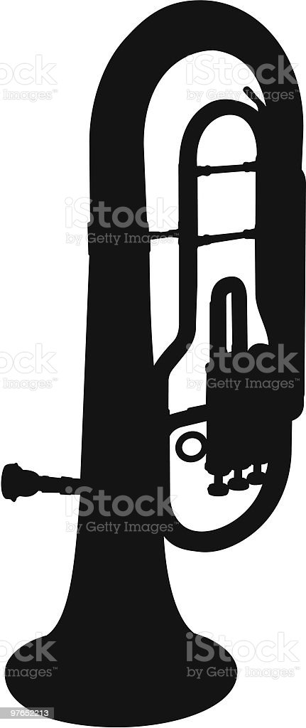 royalty free silhouette of a baritone horn clip art vector images rh istockphoto com baritone saxophone clip art baritone saxophone clip art