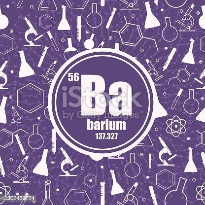 istock Barium chemical element. 1302450724