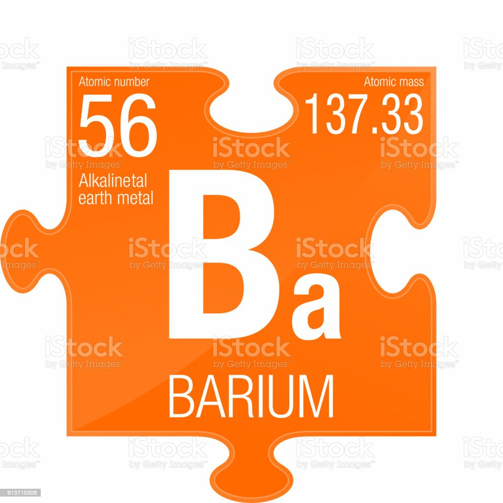 Barium Symbol Element Number 56 Of The Periodic Table Of The