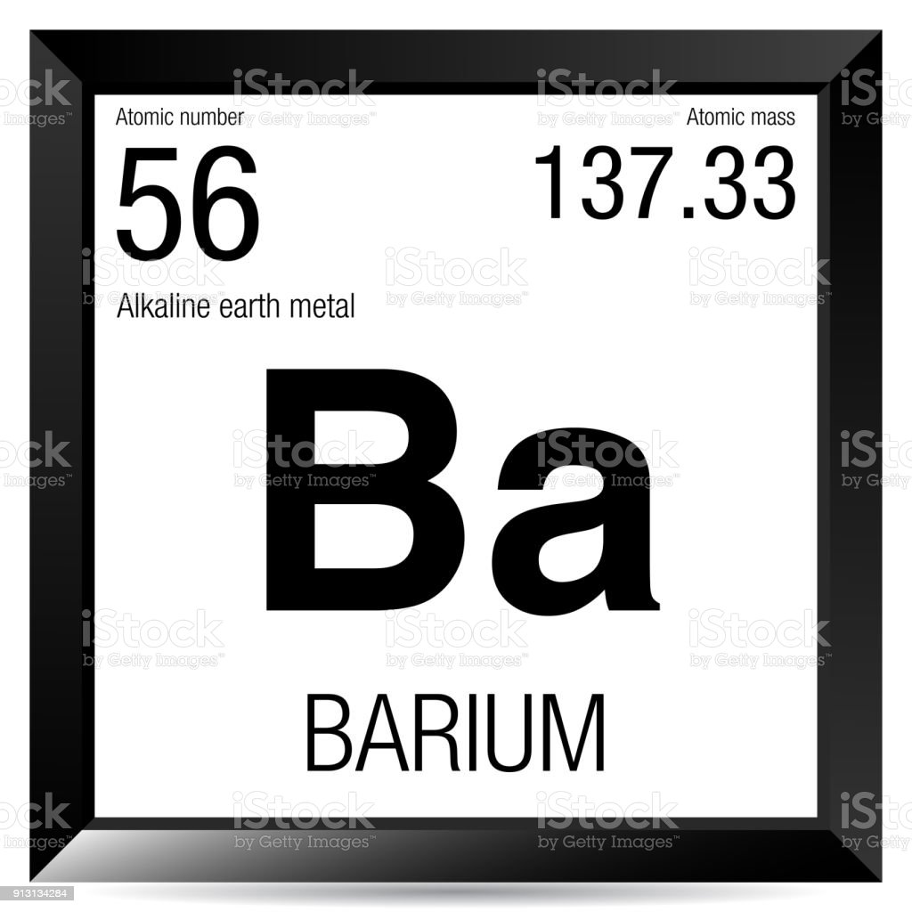 Barium Symbol Element Number 56 Of The Periodic Table Of The
