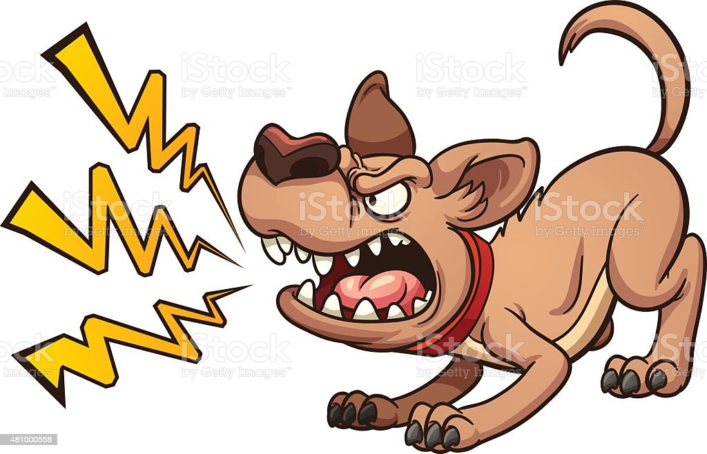 Barking dog vector art illustration