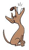 barking or howling dog cartoon character