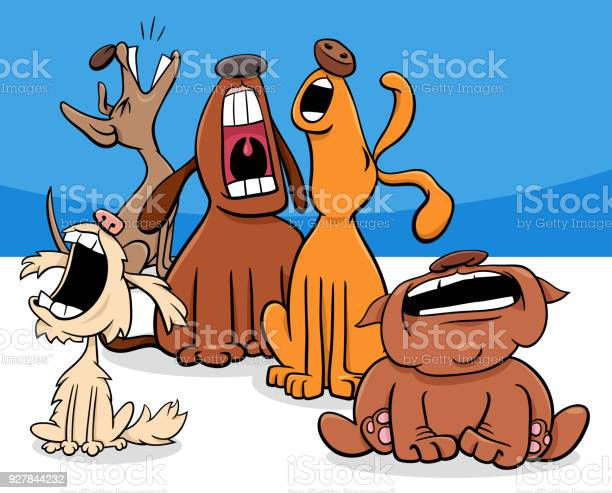 Barking or howling dogs cartoon characters group vector id927844232?b=1&k=6&m=927844232&s=612x612&h=arr1mtl6m274z4ajk lkxlfjp3negj4hqso13p4n5oa=