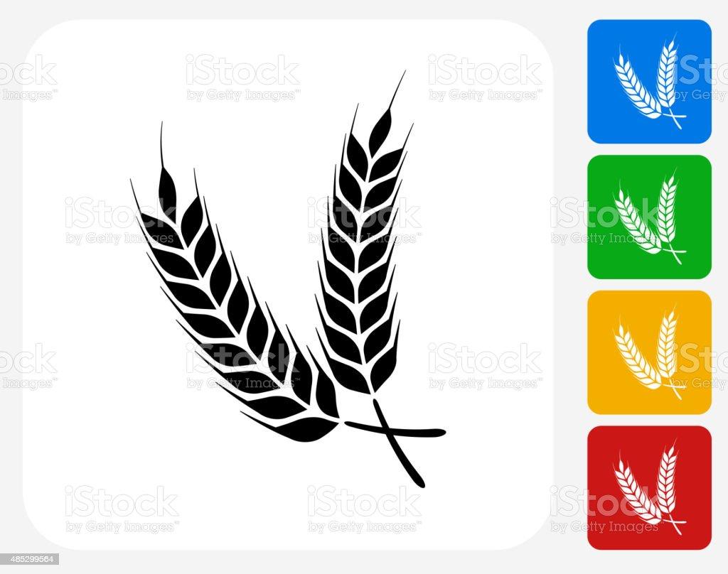 Barley Icon Flat Graphic Design vector art illustration