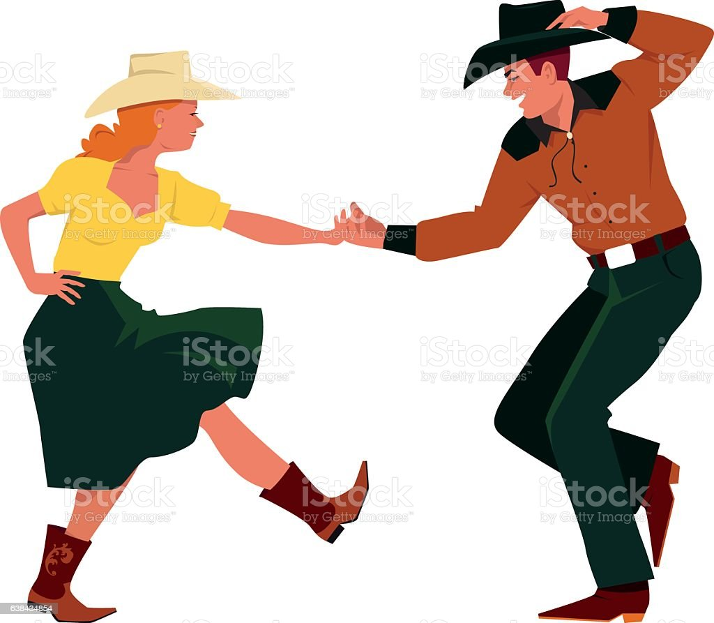 royalty free square dancing clip art vector images illustrations rh istockphoto com line dancing clipart free line dance cliparts kostenlos