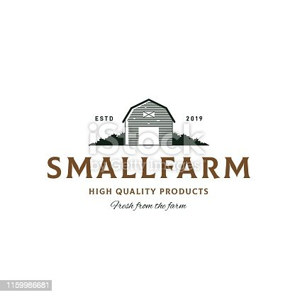Barn illustration logo design inspiration
