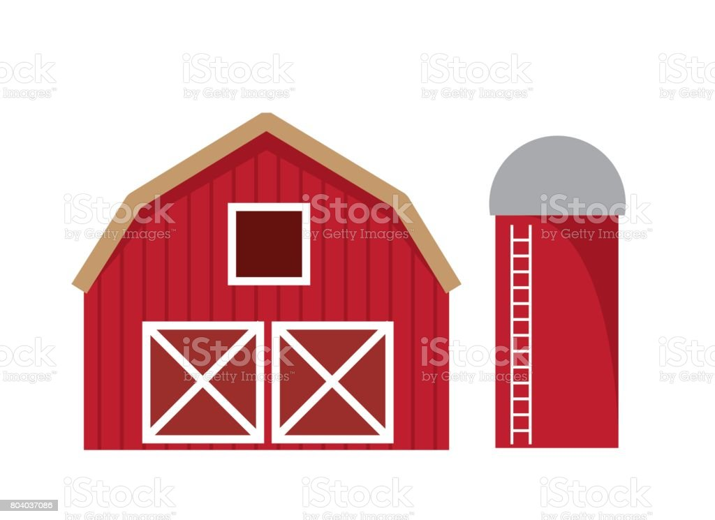 Barn Isolated vector art illustration