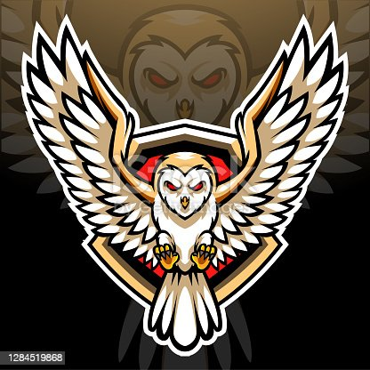 istock Barn owl mascot. esport logo mascot design 1284519868