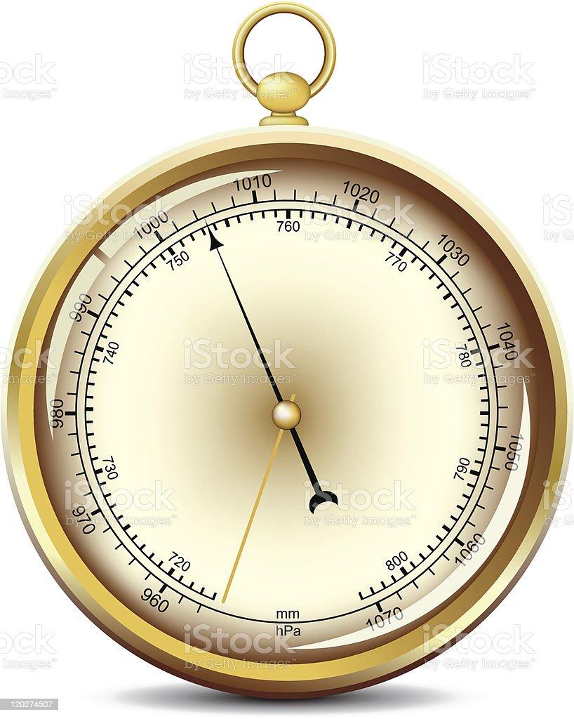 Barometer vector art illustration