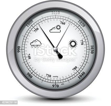 Barometer in silver