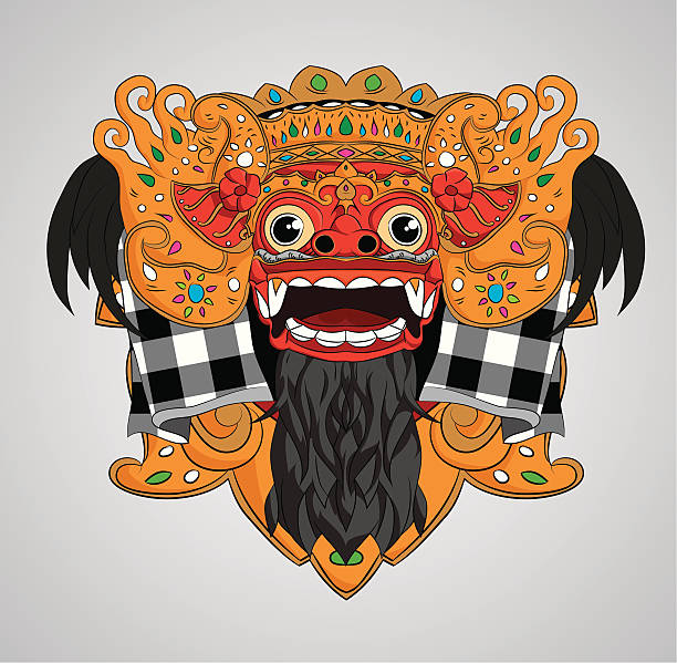 Barong Mask vector art illustration