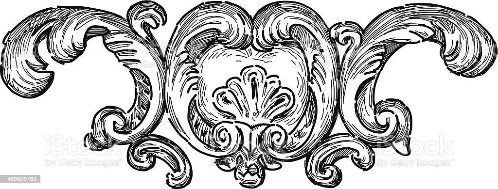baroque architectural detail royalty-free stock vector art