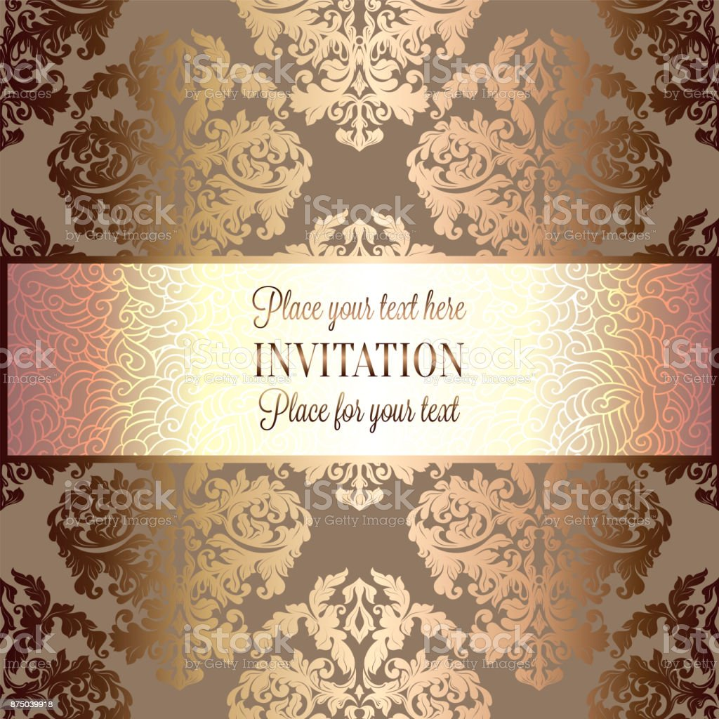 Baroque Background With Antique Luxury Gold Vintage Frame Victorian