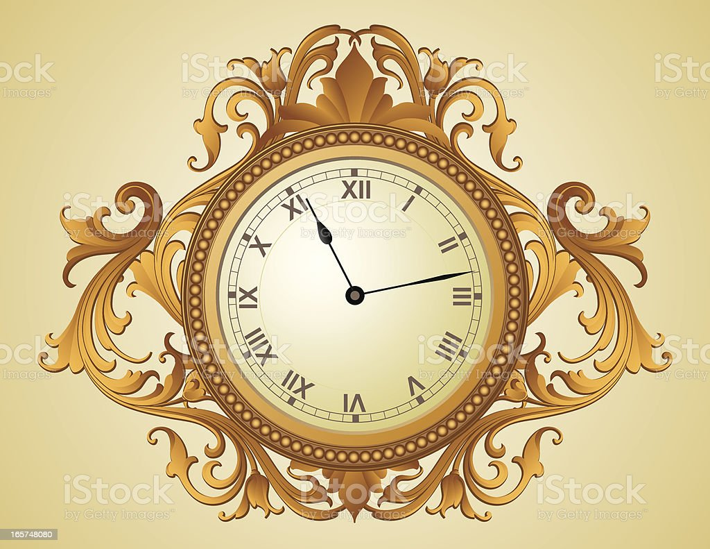 Baroque Clock Stock Vector Art & More Images of 2000-2009 165748080 ...
