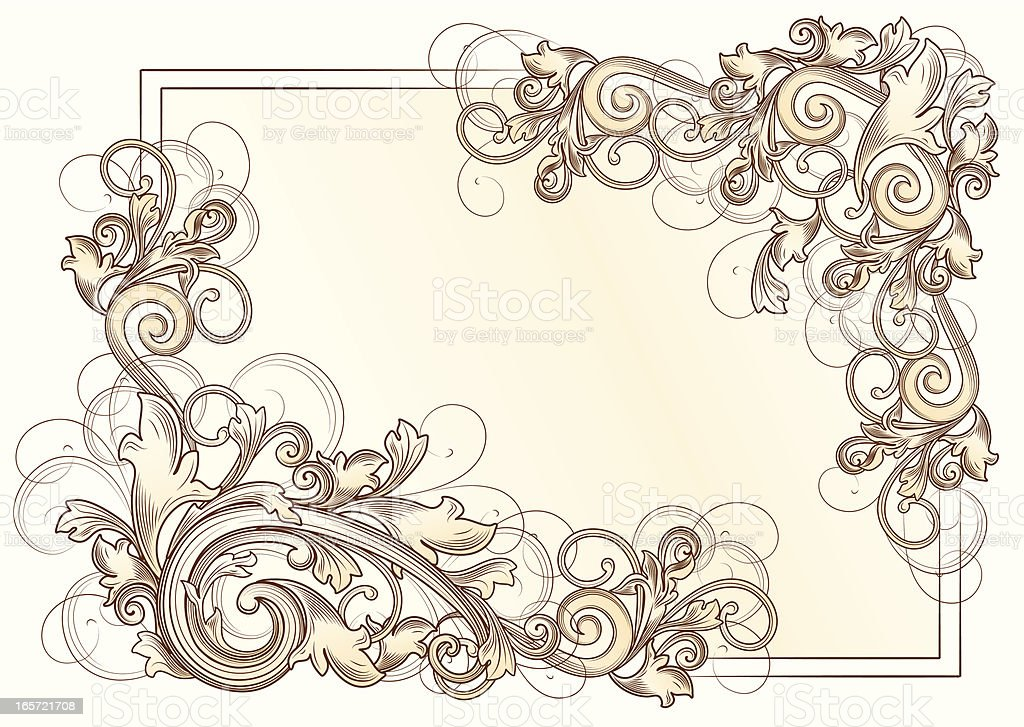 Baroque corners royalty-free stock vector art