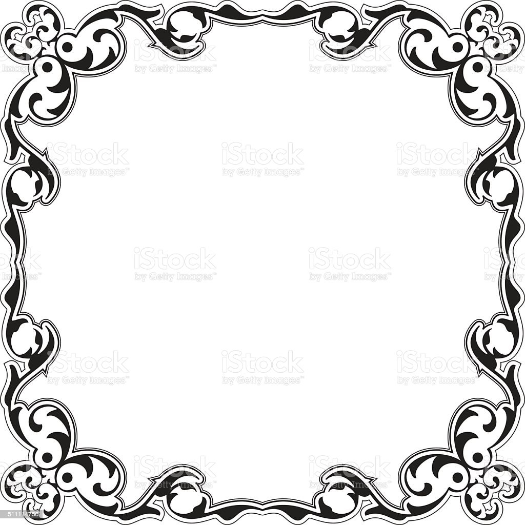 Baroque Decor Nice Frame Stock Vector Art & More Images of ...