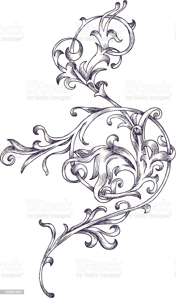 Baroque design element vector art illustration