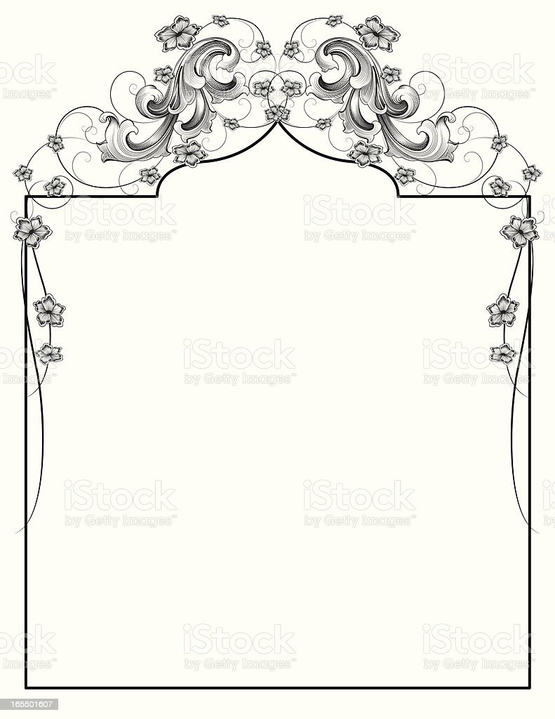 Baroque Floral Page royalty-free baroque floral page stock vector art & more images of antique