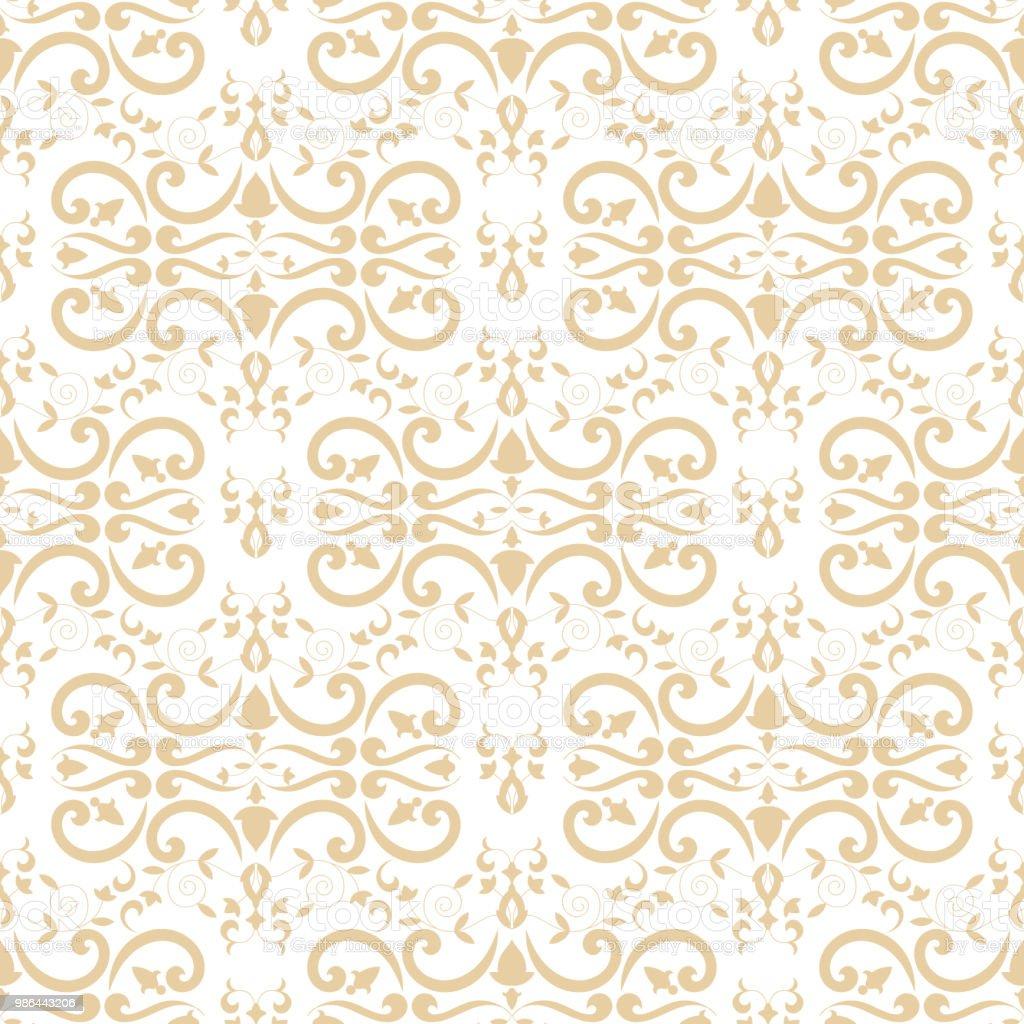 バロックの花柄のパターン ベクトルのシームレスですロイヤル
