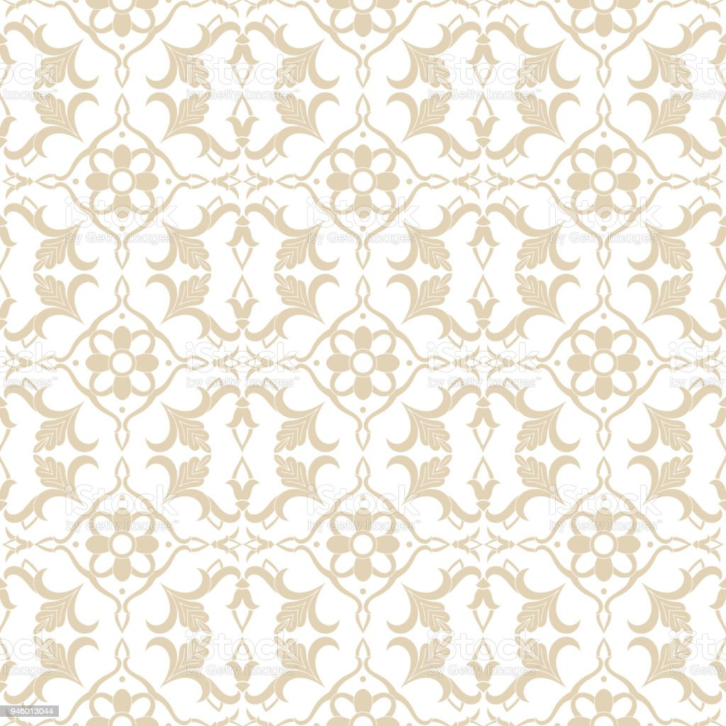 Baroque Floral Pattern Vector Seamless Victorian Royal Luxury