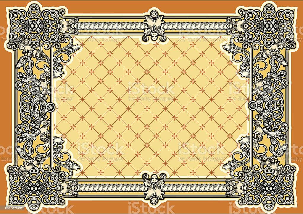 Baroque frame royalty-free stock vector art