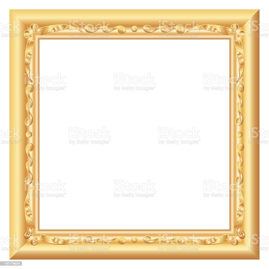 baroque gold royalty-free stock vector art