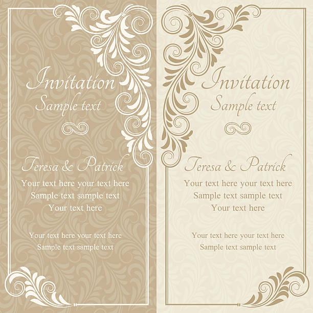 baroque invitation, beige - 古典風格 幅插畫檔、美工圖案、卡通及圖標