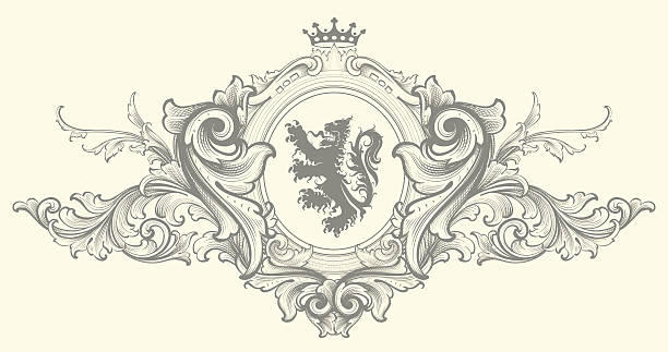 baroque nobility coat of arms - coat of arms stock illustrations, clip art, cartoons, & icons