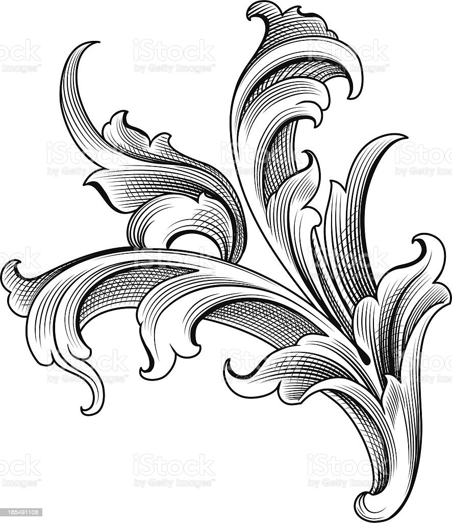 Baroque Ornament Stock Vector Art & More Images of Angle ... Барокко Орнамент