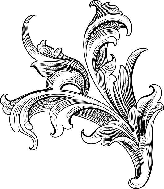 Barokowy Ozdoba – artystyczna grafika wektorowa