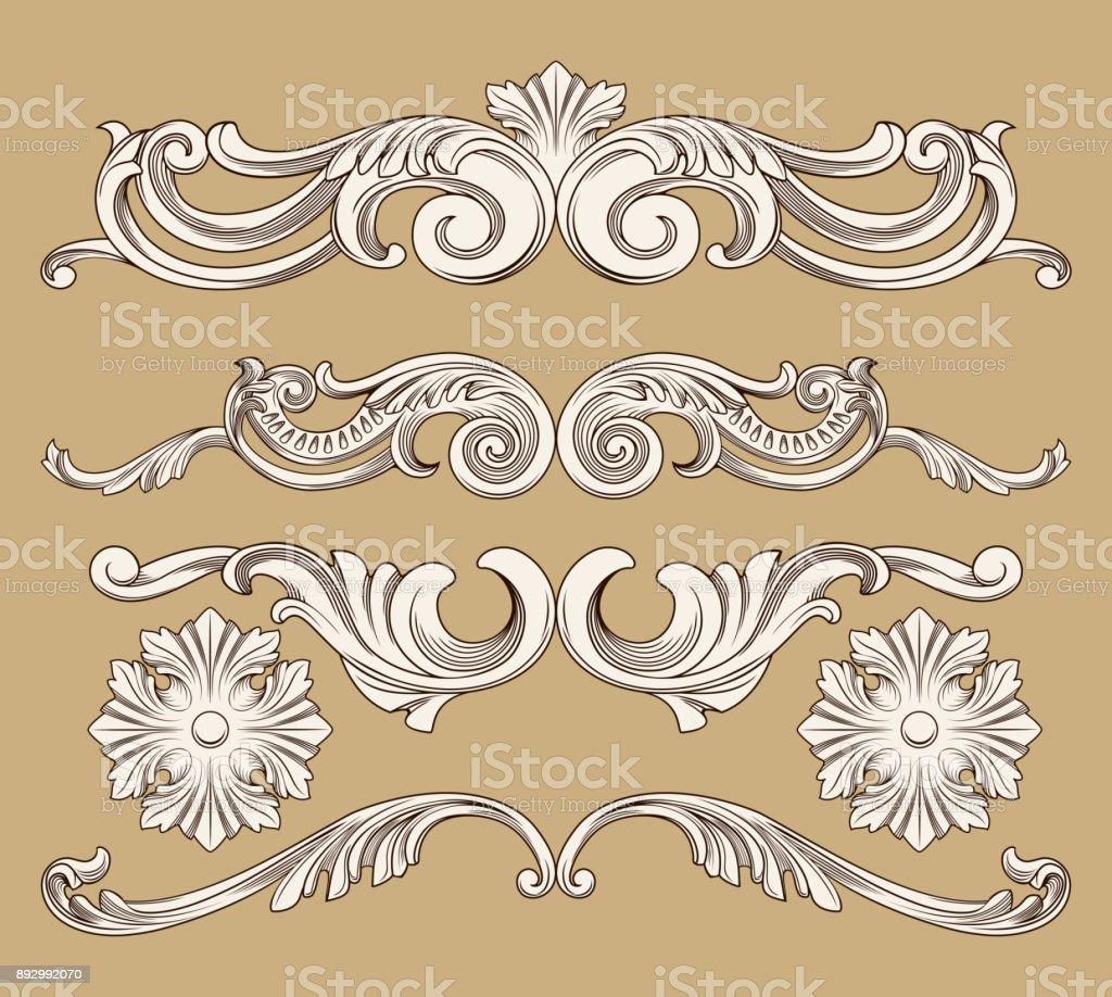 baroque ornament vector art illustration