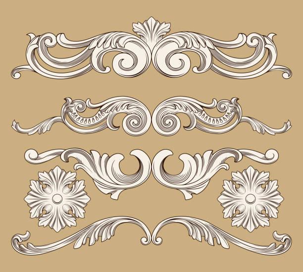 バロック様式の装飾  - ロココ調点のイラスト素材/クリップアート素材/マンガ素材/アイコン素材