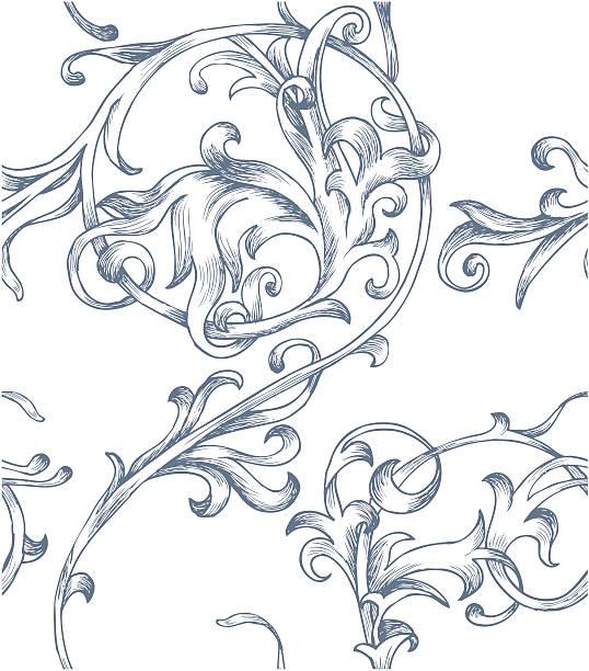 バロック模様 - ロココ調点のイラスト素材/クリップアート素材/マンガ素材/アイコン素材