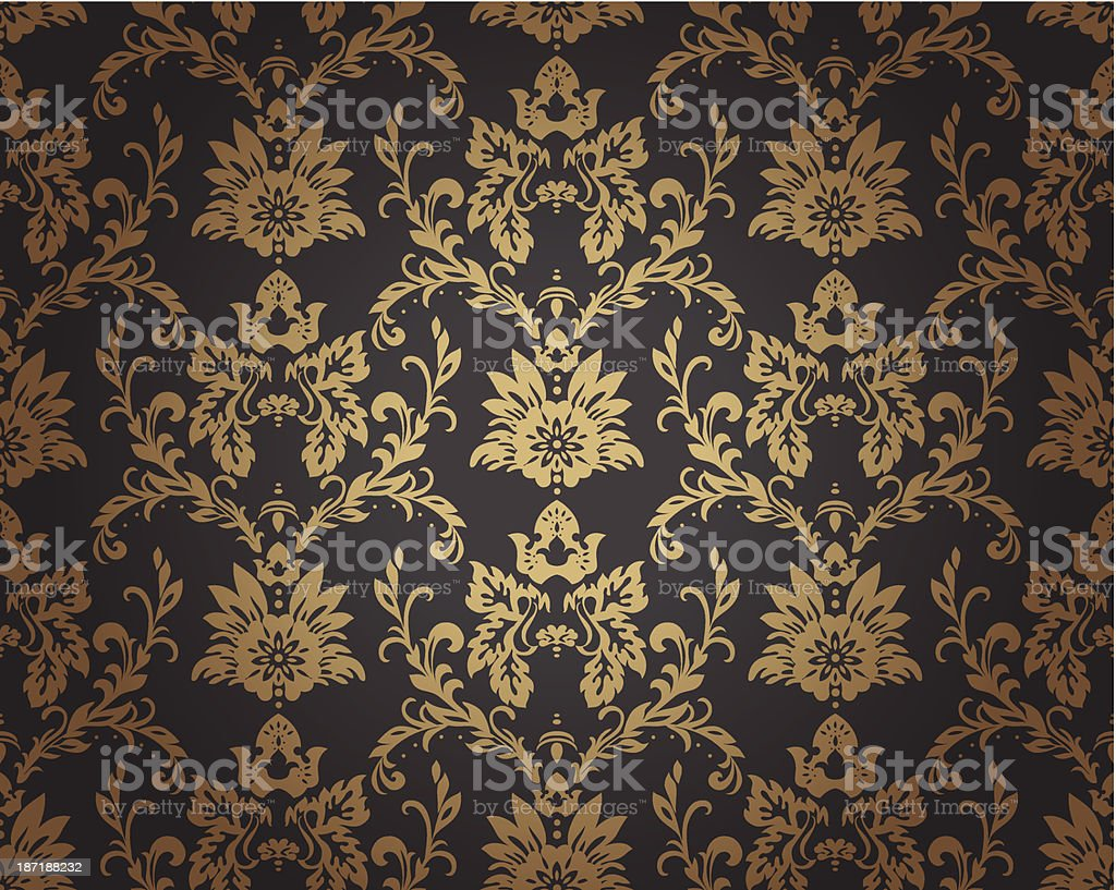 Baroque pattern vector art illustration