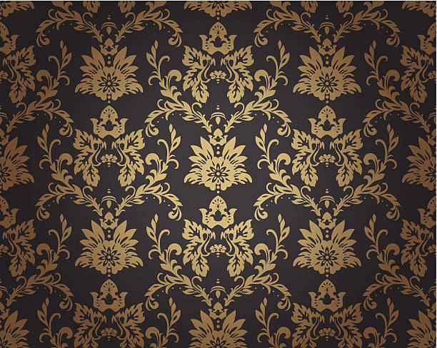 baroque pattern - floral and decorative background stock illustrations