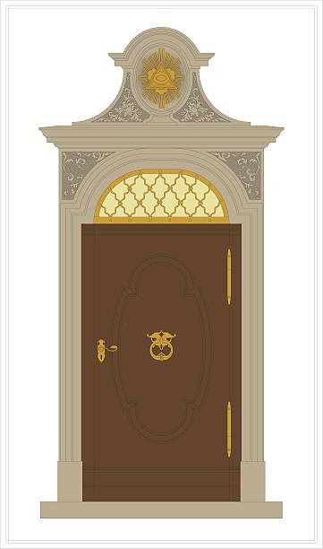 barock-portal - türklopfer stock-grafiken, -clipart, -cartoons und -symbole