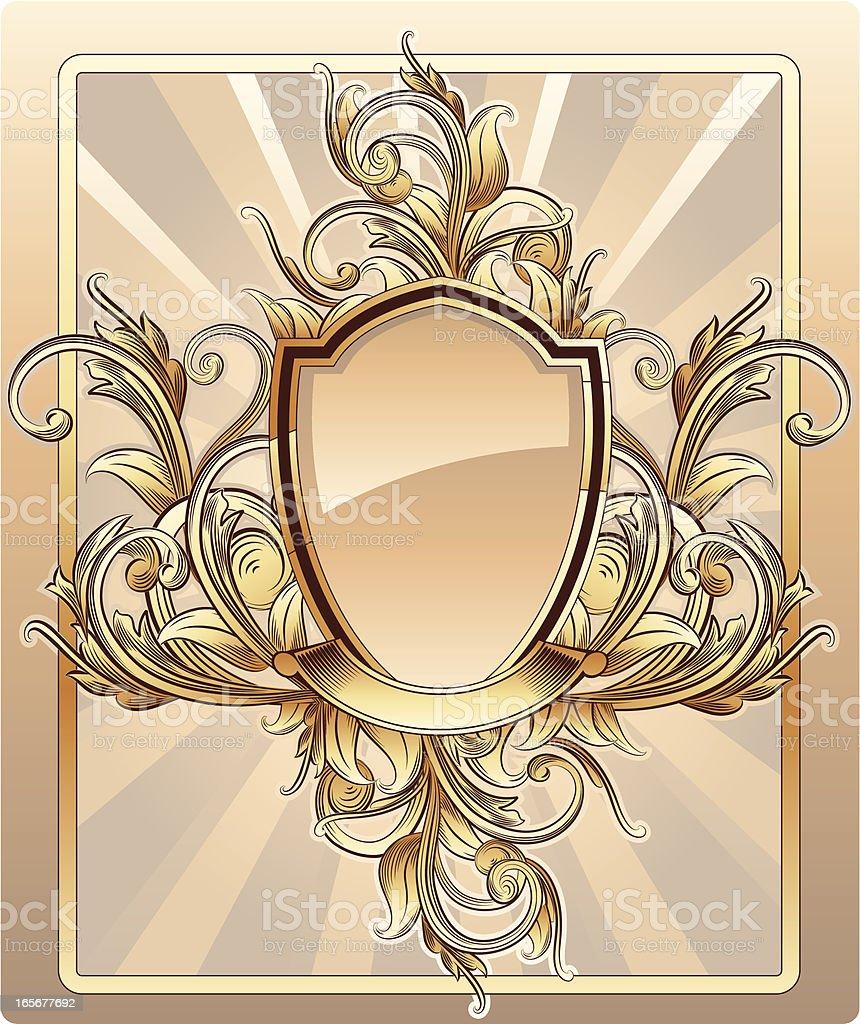Baroque Shield royalty-free stock vector art