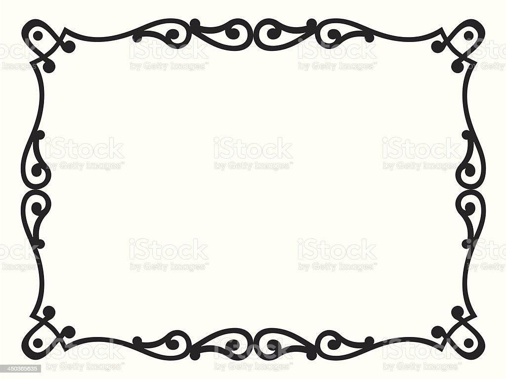 baroque style black ornamental decorative frame royalty-free stock vector art