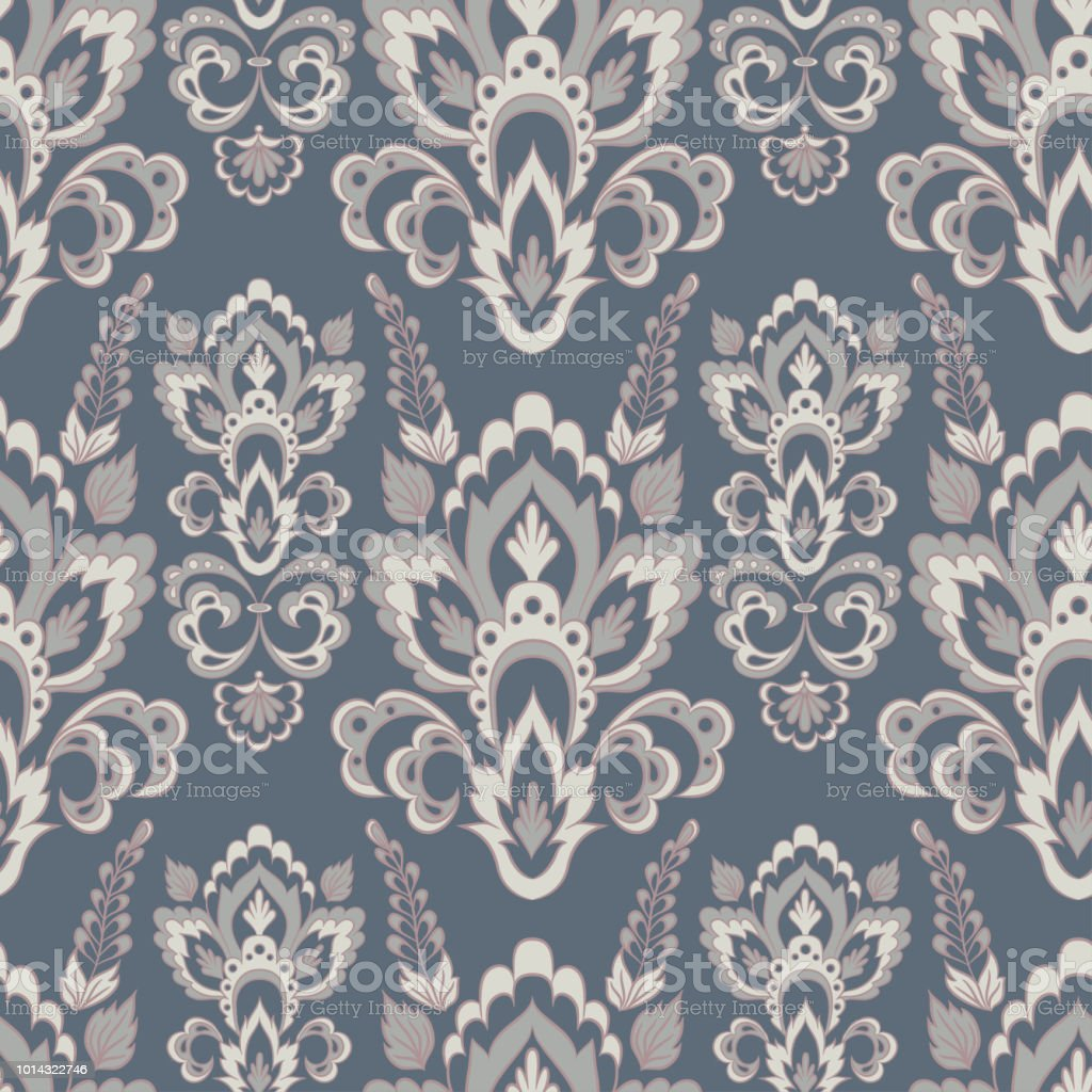 Baroque Style Floral Wallpaper Seamless Vector Pattern Royalty Free