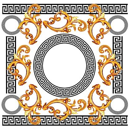 baroque with greek design pattern