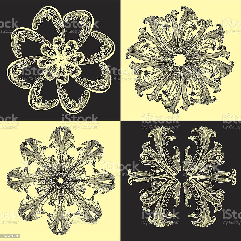 Baroque_pattern04 royalty-free stock vector art
