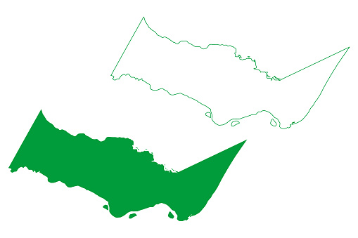 Barra de Sao Miguel municipality (Alagoas state, Municipalities of Brazil, Federative Republic of Brazil) map vector illustration, scribble sketch Barra de Sao Miguel map