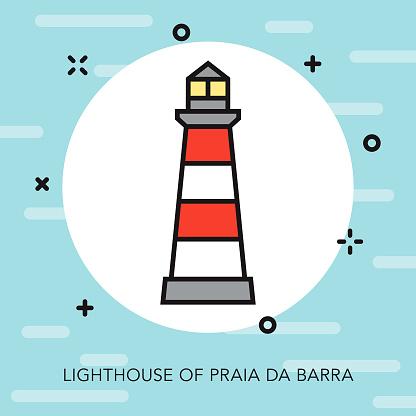Barra Portugal Thin Line Icon Beach