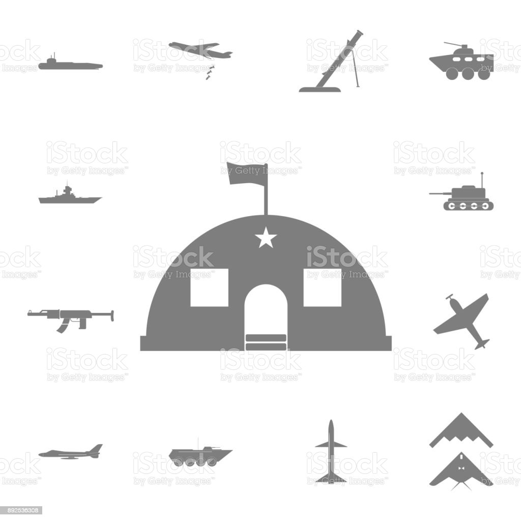Barracks, military tent icon. Set of military elements icon. Quality graphic design collection army icons for websites, web design, mobile app vector art illustration