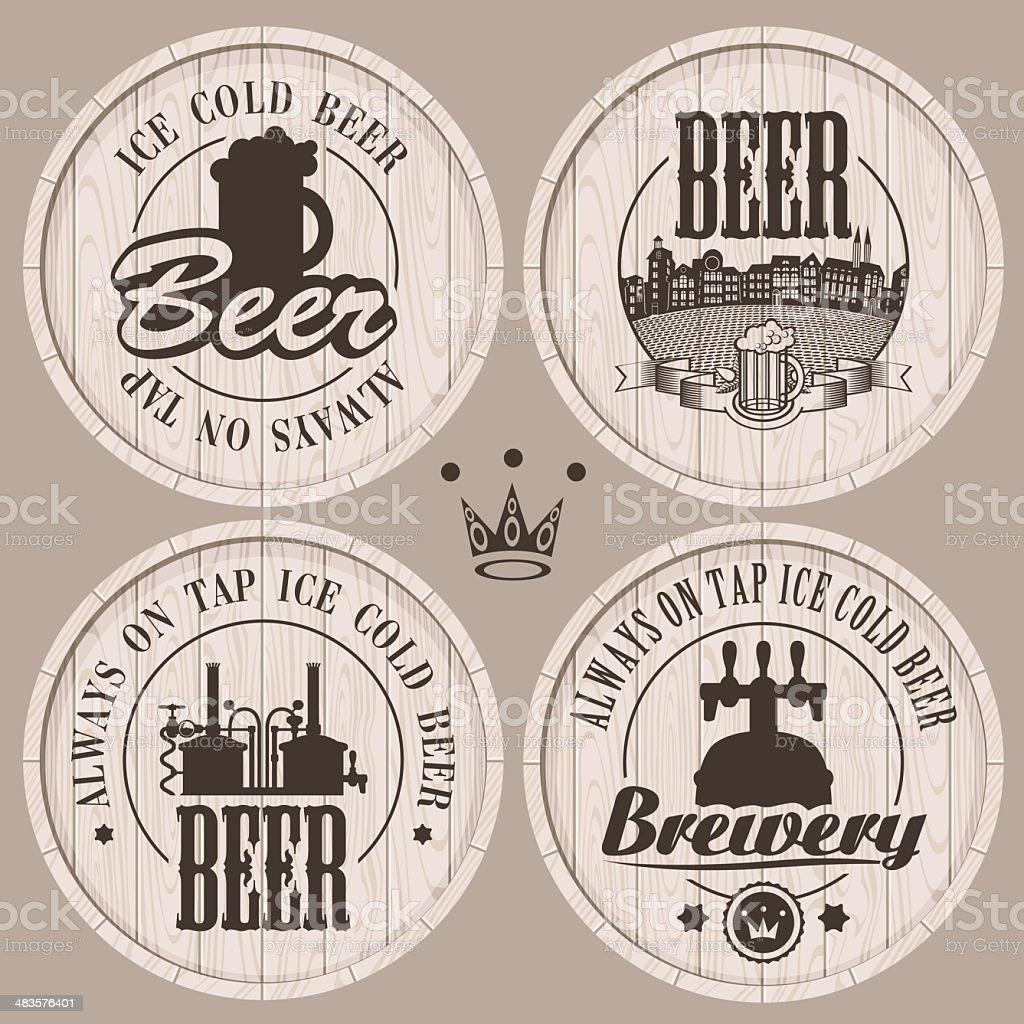 barrel beer royalty-free stock vector art