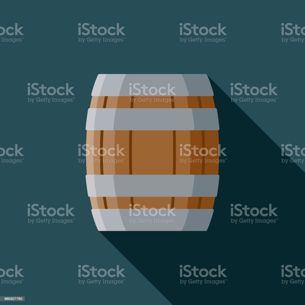 Barrel Flat Design Fantasy Icon royalty-free barrel flat design fantasy icon stock vector art & more images of adventure