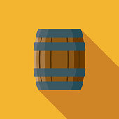 A flat design styled Wild West icon with a long side shadow. Color swatches are global so it's easy to edit and change the colors.