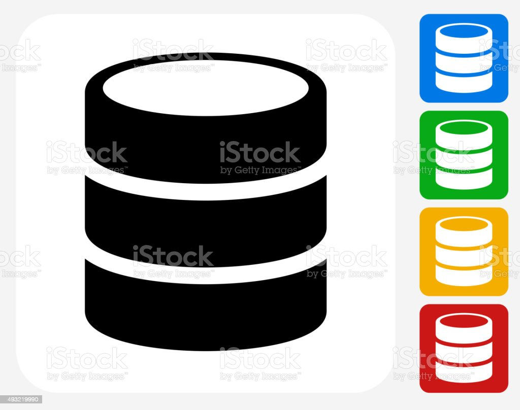 Barrel Icon Flat Graphic Design vector art illustration