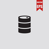 Barrel icon.Vector illustration.