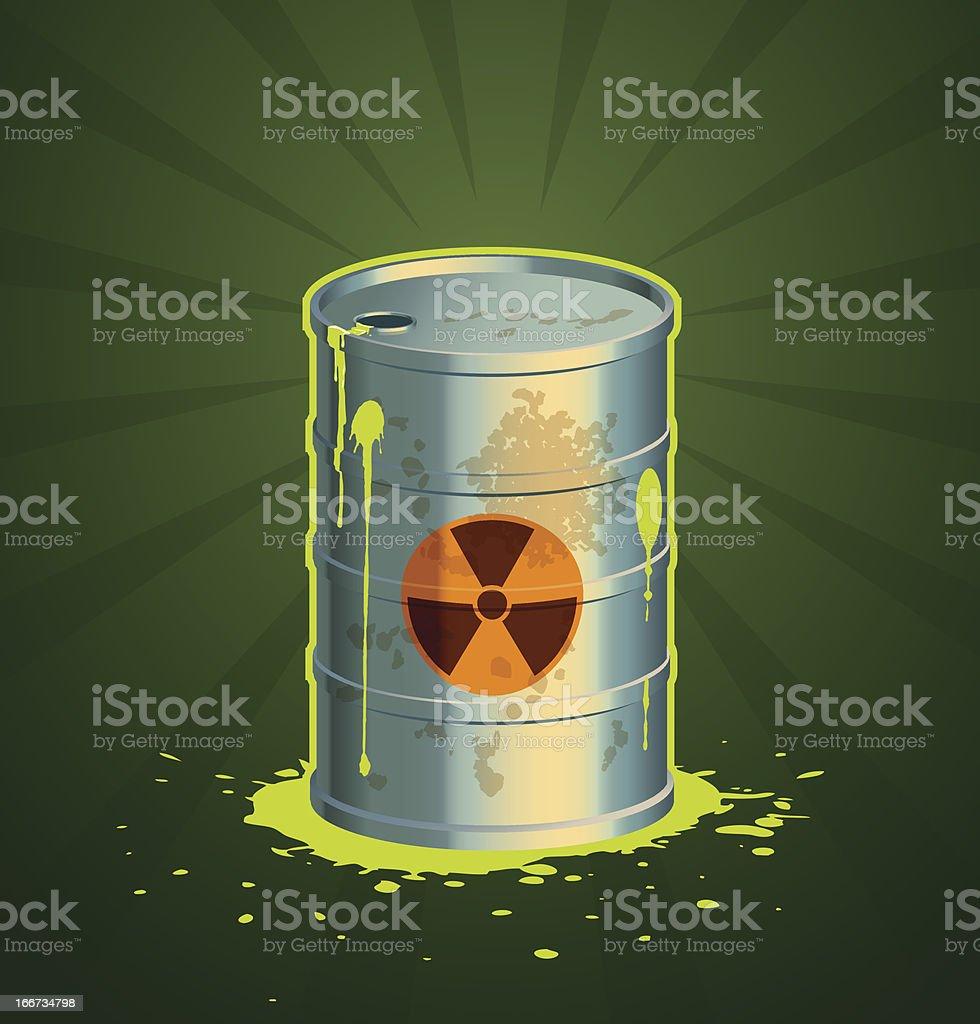 Barrel of radioactive waste vector royalty-free stock vector art